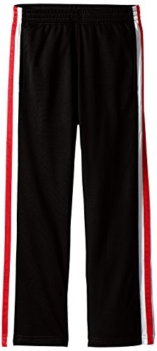 Scout + Ro Boys' Contrast Stripe Athletic Pant,   Black/Red Stripe, 6