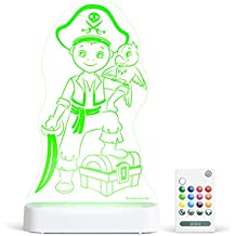 Aloka Pirate Boy Starlight Multi-Colored LED Light with Remote Control, Multi-Color Changing, 8 Inch