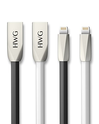 HWG USB to Lightning Cable 2-Pack for iPhone 7 6S / 6 Plus,