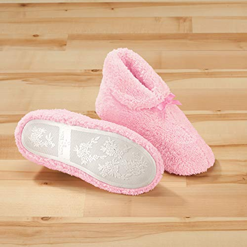 Medium Slippers Pink Chenille Women's Plush tqxP44aW