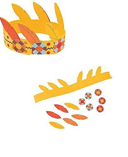 (12) Native American Headband Kits ~ One Dozen THANKSGIVING Arts & Crafts Kits ~ Party Fun ~ School Fairs ~ 12 new by OTC