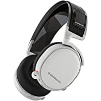 SteelSeries Arctis 7 Lag-Free Wireless Gaming Headset with DTS Headphone:X 7.1 Surround for PC, PlayStation 4, VR, Mac and Wired for Xbox One, Android and iOS - White (Certified Refurbished)