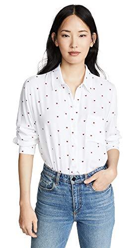 Rocsi Imprimer Coeur Femmes Rails Chemise Blanc qVSMzUpG