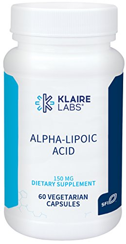 Klaire Labs Alpha-Lipoic Acid 150 mg - Hypoallergenic ALA Supplement, Antioxidant & Liver Support (60 Capsules)