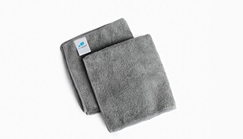 Price comparison product image IdeaPaint Dry Erase Microfiber Whiteboard Cleaning Cloths (2 Pack) / Non-scratch,  Reusable,  Machine-washable,  Universal Gray