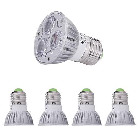 Zyurong® 3 w E27-Lote de 4 bombillas LED 240lm, luz blanca cálida