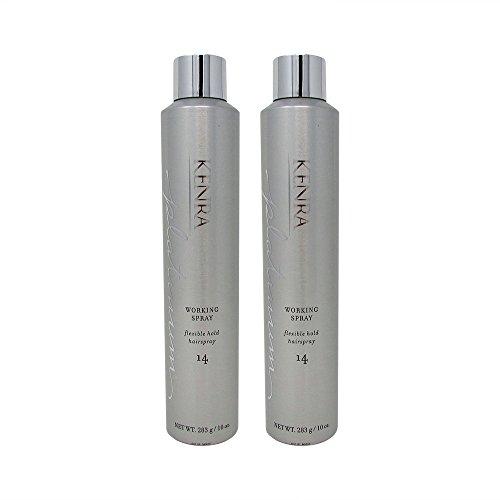 Bundle-2 Items : Kenra Platinum Working Spray #14, 80% VOC,