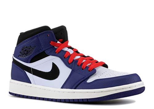 Jordan Mens Air 1 Mid SE Leather Synthetic Deep Royal Blue Half Blue Trainers 8.5 US