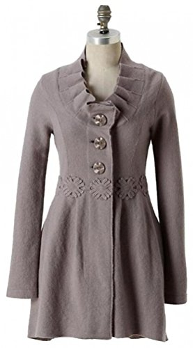 Anthropologie Alice in Autumn Sweater Coat By Charlie & Robin - Grey- Sz L - NWOT(L) from Anthropologie