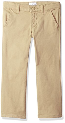 The Children's Place Girls' Big Skinny Uniform Pants, Sandy, 6X/7 Plus by The Children's Place