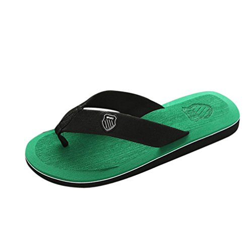 WINWINTOM Mens Flip Flops, Mens Flip Flops, Men Summer Stripe Sandals Male Slipper Flip Flops Shoes Green