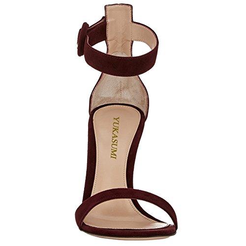 Des Lanière Bride Simples Cheville Artisan Edefs Argenté Haut Femmes Chaussures À Couleurs Elégants 10cm Talon 100mm De Fashion Pourpre Sandales w4wvYS