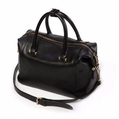Guangming77 Boston _ Shoulder Bag Pillow Bag Diagonal Black Purple Taro
