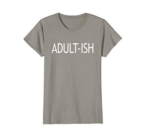 Womens Adultish Tshirt Women | Men Shirts Medium Slate ()