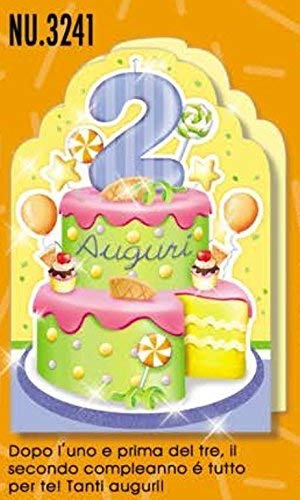 Subito Disponibile Cumpleaños Tarjeta 2 Años una Pastel para ...