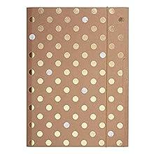 Herlitz Pure Glam Caja de cartón Oro - Carpeta (Conventional file folder, Caja de cartón, Oro, A4, Paisaje/Retrato, Banda elástica)