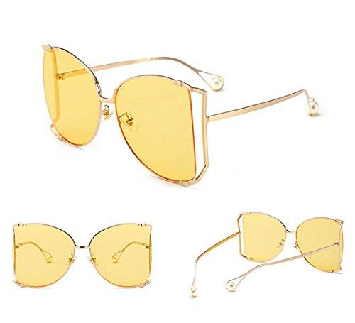 de metal de moda grande irregular estilo Caja vintage de Gafas de sol de B Alger Gafas B viaje zq08PP