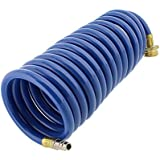 Empire Faucets Heavy Duty Coiled Water Hose RV Extension Coiled Hose Extender for Disconnect Valve, 15ft Spiral Hose