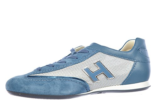 Hogan chaussures baskets sneakers femme en cuir interactive h flock blu
