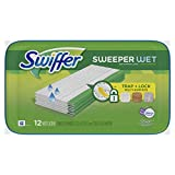 Swiffer Sweeper Wet Mopping Pad Multi Surface Refills For Floor Mop, Lavender & Vanilla Comfort, 12 Count