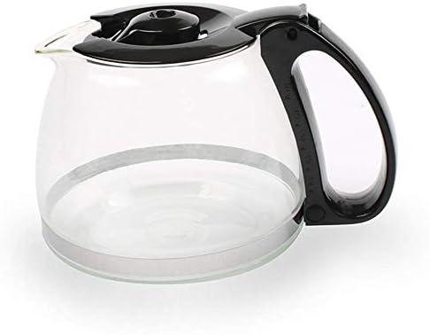 Qinmo Machine à café glacé, Machine à café, Machine à café Goutte à Goutte avec Carafe en Verre et Un Bouton Tactile Machines à café (Noir)
