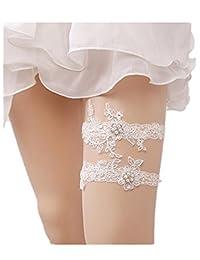 Rhinestones Lace Wedding Bridal Garter Belt Set