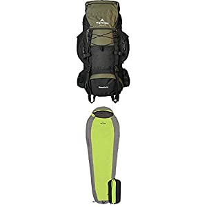 TETON Sports Scout 3400 Internal Frame Backpack, Hunter Green with TETON Ultralight Sleeping Bag