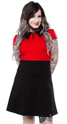 Sourpuss Roundabout Dress Red/Black L -
