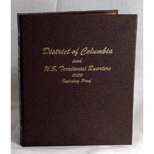 Dansco District Of Columbia And U S  Territorial Quarters Album Including Proof  8145