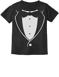 Tuxedo Black Bow Tie 3D Tux Costume Funny Toddler/Infant Kids T-Shirt
