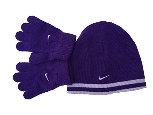 Nike Boy`s Reversible Beanie and Gloves Set by NIKE