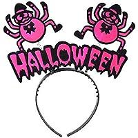 Halloween Örümcek Taç Fuşya