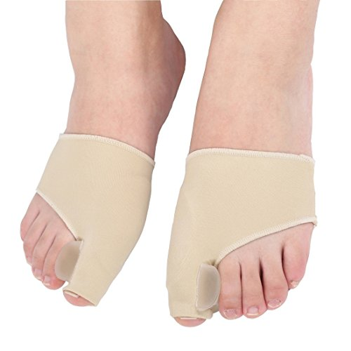 Bunion Corrector and Bunion Relief Sleeve with Gel Pad, Wear with Shoes-Big Toe Straightener Protector Pain Relief Hallux Valgus Correction, One Pair