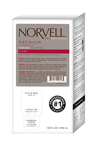 Tanning Pack - Norvell Premium Sunless Tanning Solution - Dark, Gallon/128 fl.oz.