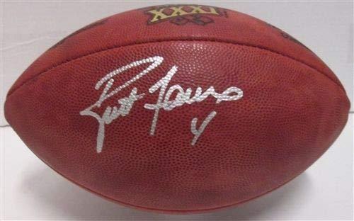 Brett Favre Autographed Duke Auth Super Bowl XXXi Football Signed - Super Bowl XXXi Champs - Certified ()
