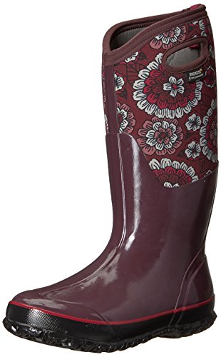 Bogs Women's Classic Pansies Snow Boot Berry Multi