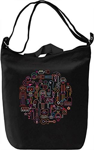 Party Borsa Giornaliera Canvas Canvas Day Bag| 100% Premium Cotton Canvas| DTG Printing|
