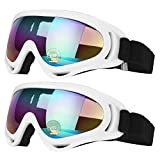 Best Goggles For Kids - COOLOO Ski Goggles, Pack of 2, Skate Glasses Review