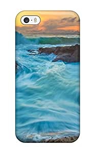 Durable Case For The Iphone 5/5s- Eco-friendly Retail Packaging(tide And Waves)