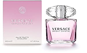 7. Versace Bright Crystal Eau de Toilette Spray for Women, 6.7 Ounce