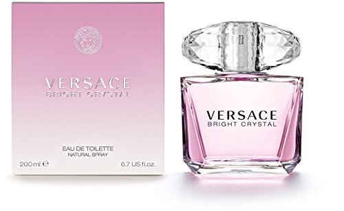 Versace Bright Crystal Eau de Toilette Spray for Women, 6.7 Ounce (Bright Perfume Crystal)