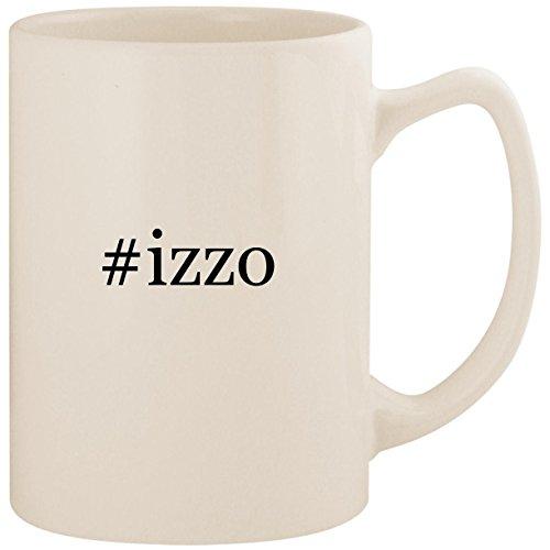 - #izzo - White Hashtag 14oz Ceramic Statesman Coffee Mug Cup