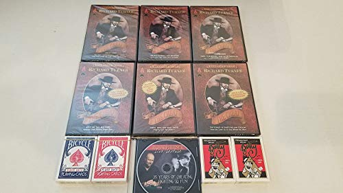 Richard Turner 8 DVD Set THE CHEAT, DOUBLE-SIGNED, FANS, BEST OF BOTTOMS, SHIFTS, SCIENCE OF SHUFFLING, 35 YEARS +