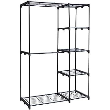 Amazon Com Whitmor Double Rod Freestanding Closet Silver