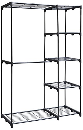 Whitmor Fabric Clothes Closet - Whitmor Deluxe Double Rod Freestanding Closet Heavy Duty Storage Organizer