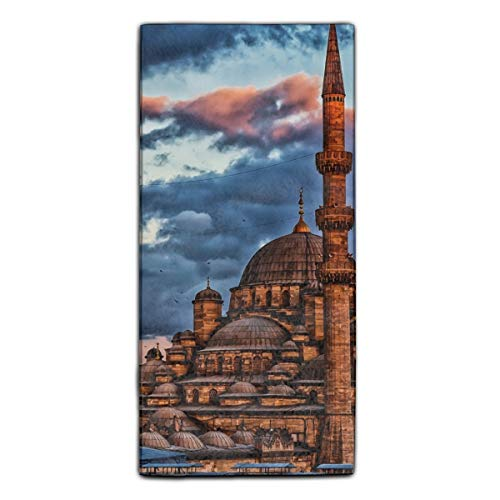 Ahmed Sultan Mosque (Sultan Ahmed Mosque Istanbul Turkey Dome Printed Kitchen Towels/Microfiber Cleaning Cloth/Tea Towels/Dish Rags,Multipurpose for Kitchen,Drawing Room,Bathroom and Car)