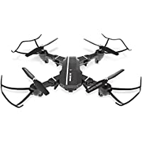 0.3 MP Camera Foldable RC Quadcopter RTF WiFi FPV G-sensor Mode Voice Control RC Quadcopters with Light WiFi APP Control Drone Dron RC Toys Silver Grey