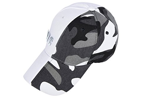 Gray Camouflage Adjustable Baseball Hat Beautifully - NYC - for Men and Women (White Camouflage) ()