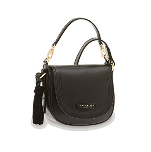 The Bridge Pearldistrict Handtasche Leder 20 cm Black Gold