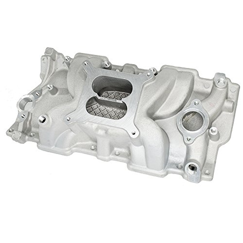 (Aluminum Intake Manifold High Rise Dual Plane for Small Block Chevy SBC 350 383)